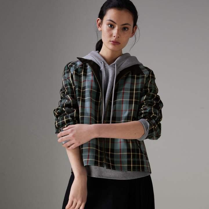 Jacke aus Baumwollgabardine mit Schottenmuster
