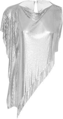 Fannie Schiavoni Asymmetric Fringe Mesh Top