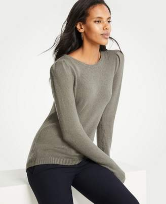 Ann Taylor Petite Puff Shoulder Sweater