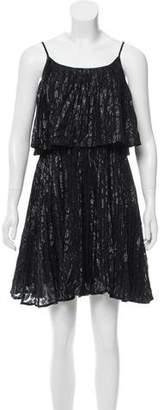 Halston Pleated Silk Dress