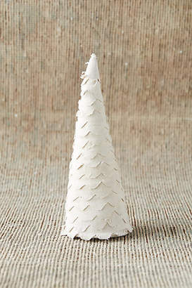 Anthropologie Scalloped Fabric Christmas Tree