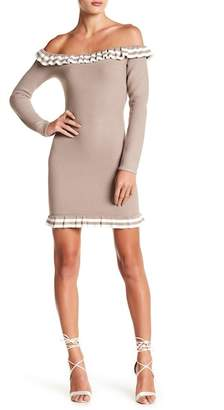Wow Couture Off-the-Shoulder Knit Dress