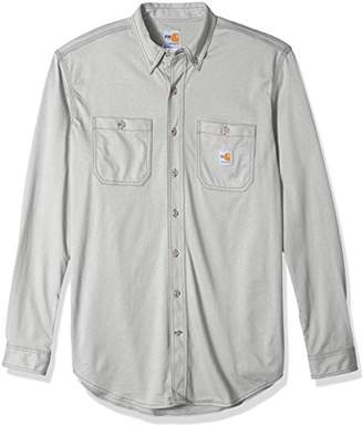 Carhartt Men's Big and Tall Flame Resistant Force Cotton Hybrid Shirt