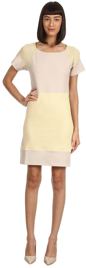 See by Chloe Panel Applied Sweater Dress (Amber Light) - Apparel