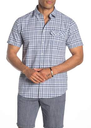 Micros Short Sleeve Decked Out Plaid Print Woven Regular Fit Shirt