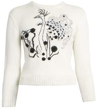 fbbd35b176 Loewe Crochet Flower Cropped Wool & Mohair Sweater