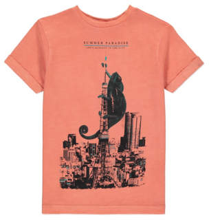 George Iguana Print T-Shirt