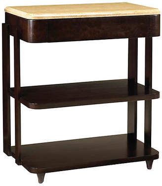 French Heritage La Coupole Marble Nightstand - Espresso