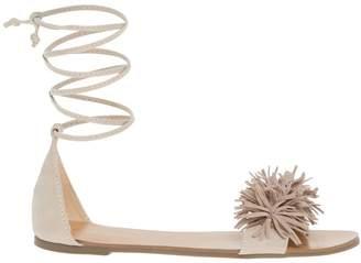 Le Château Women's Fringe Lace-up Flat Sandal