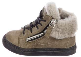 Giuseppe Zanotti Boys' Suede Sneakers