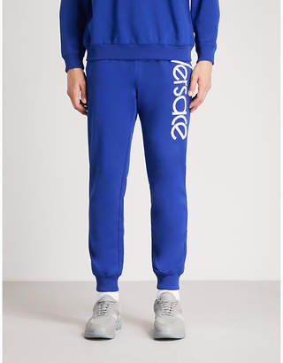 Versace Logo-embroidered cotton-jersey jogging bottoms