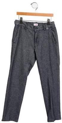 Il Gufo Girls' Two-Tone Straight-Leg Pants