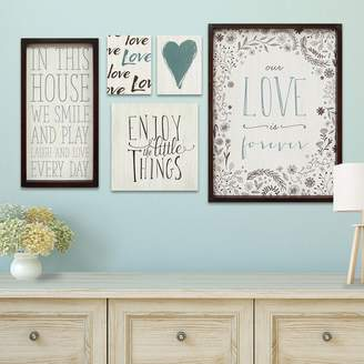 Stratton Home Decor Love Sentiments Wall Art 5-piece Set