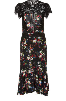 Marissa Webb Imani Print Lace Midi Dress