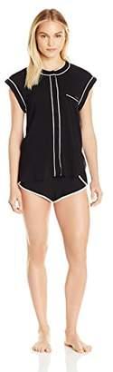 Calvin Klein Women's Short Sleepwear Sleeve Top Pajama Set