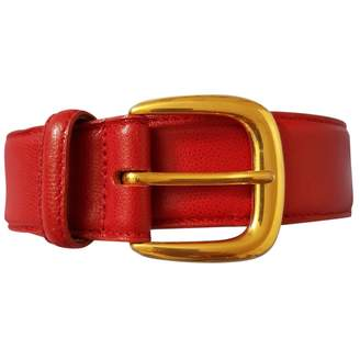 Orciani Red Leather Belts