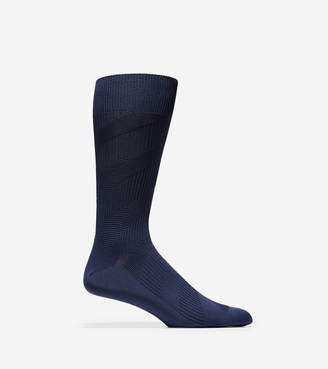 Cole Haan Diagonal Chevron Texture Crew Socks