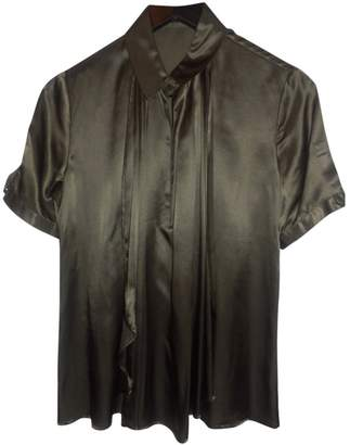 Unconditional Khaki Silk Top for Women