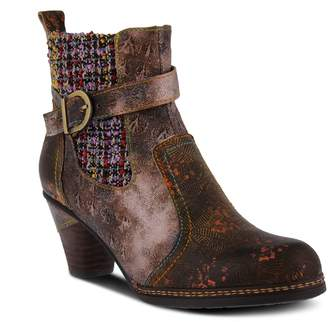 Spring Step L'Artiste by Block-Heel Leather Booties - Nancies