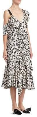 Proenza Schouler One-Shoulder Ruffle Dress