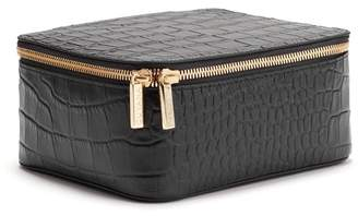 Cuyana Croc-Embossed Leather Jewelry Case
