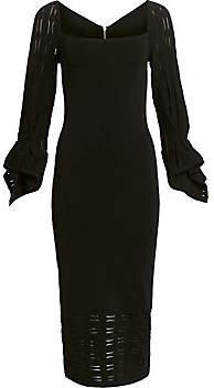 Roland Mouret Women's Boynton Puff-Sleeve Midi Dress