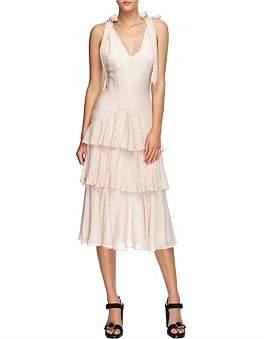 Lover Clipped Jaquard Midi Dress
