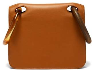 Roksanda Neneh Wooden Handle Leather Clutch - Womens - Tan