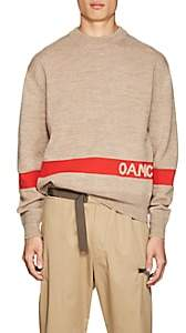 Oamc Men's Logo-Knit Wool-Blend Sweater - Camel
