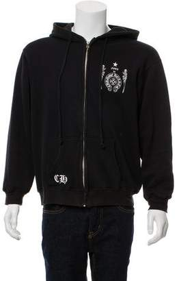 Chrome Hearts Foti Woven Zip-Up Sweater