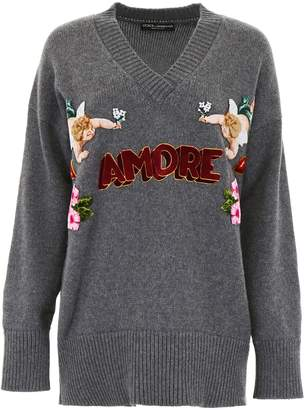 Dolce & Gabbana Pullover With Amore Patch