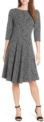 Leota Circle Knit Fit & Flare Dress