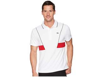 Lacoste Short Sleeve Pique Ultra Dry w/ Contrast Broken Yoke Piping Men's Short Sleeve Pullover