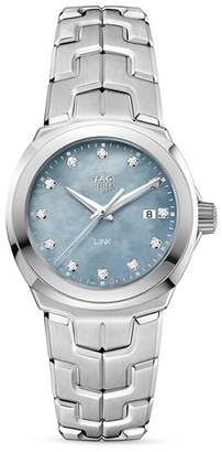Tag Heuer Link Grey Mother-Of-Pearl Watch, 32mm