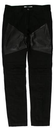 Givenchy Lambskin Trimmed Skinny Jeans