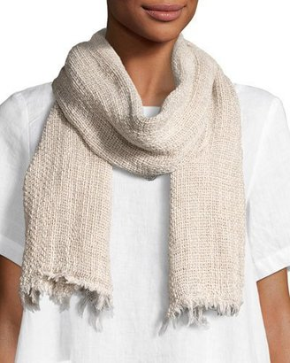 Eileen Fisher Organic Linen/Cotton-Blend Twist Scarf $98 thestylecure.com