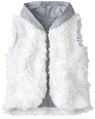 Girls Feathery Fleece Hooded Vest $49 thestylecure.com