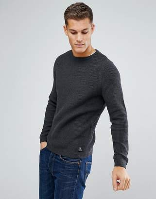Tom Tailor Chunky Knit Jumper In Charcoal