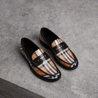 Burberry Vintage Check and Leather Penny Loafers