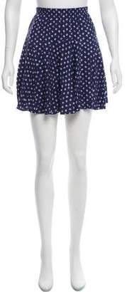 Rebecca Taylor Floral Print Mini Skirt