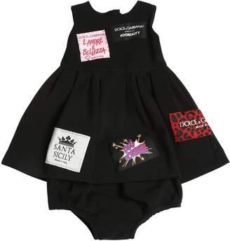 Dolce & Gabbana Cotton Interlock Dress & Culottes