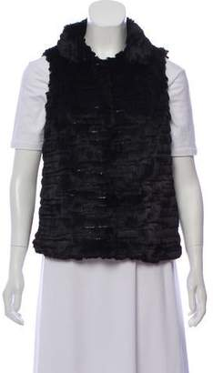 Milly Sequined Faux Fur Vest