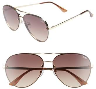 Quay x Missguided Cool Innit 56mm Aviator Sunglasses