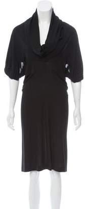 Saint Laurent Draped Midi Dress
