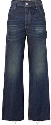 MM6 MAISON MARGIELA Cropped High-rise Wide-leg Jeans - Dark denim