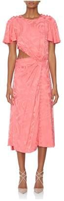Prabal Gurung Flutter Sleeve Cutout Dress