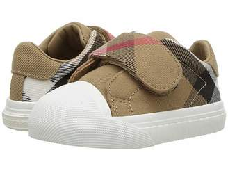 Burberry Beech Check Trainer (Infant/Toddler)