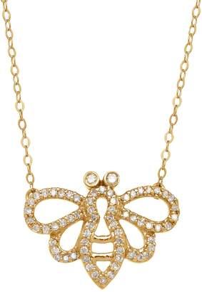 Saks Fifth Avenue 14K Yellow Gold Diamond Bee Necklace