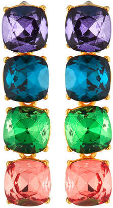 Kenneth Jay Lane Multihued Crystal Drop Earrings