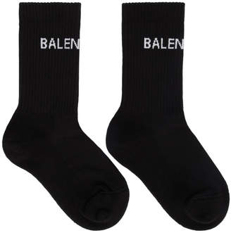 Balenciaga Black New Logo Socks